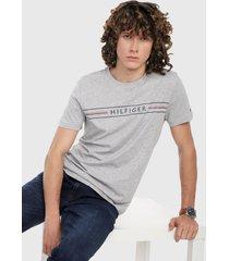 camiseta gris tommy hilfiger