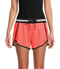 dkny women's mesh dolphin shorts - pink - size l