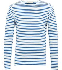the organic striped tee ls t-shirts long-sleeved blå by garment makers