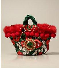 sikuly shoulder bag sikuly festaiola coffa bag in lace with maxi pompom and emblem