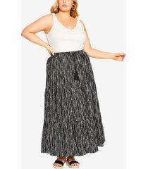 city chic trendy plus size deep sea skirt