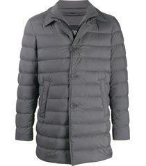 herno double-collar padded jacket - grey