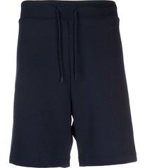 a.p.c. drawstring bermuda shorts - blue