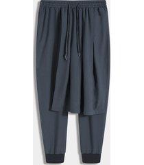 me fashion tiered diseño cintura elástica suelta casual pantalones