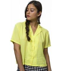 blusa manga corta amarilla eclipse