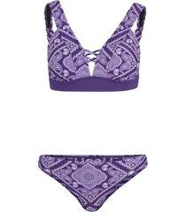 bikini a bustier (set 2 pezzi) (viola) - rainbow