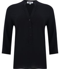 blusa unicolor color negro, talla m