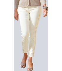 jeans alba moda offwhite::goudkleur