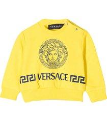 young versace yellow sweatshirt