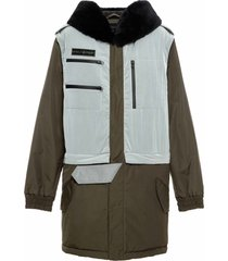 3 in 1 transformable parka with fur hood trim
