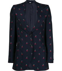 gucci cherry fil coupé wool jacket - blue