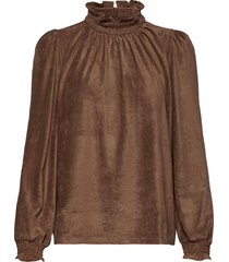 blouse blouse lange mouwen bruin sofie schnoor