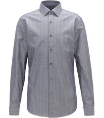 boss men's jacques slim-fit striped cotton shirt