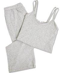 skin calista double-strap camisole pajama set