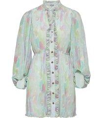 pleated georgette dresses everyday dresses multi/patroon ganni