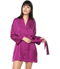 kimono en seda cinturon ref. 177726 fucsia