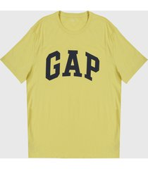 camiseta amarillo-negro gap