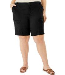 karen scott plus size cargo shorts, created for macy's