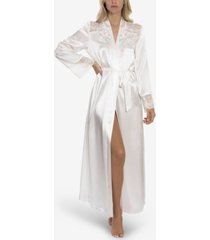 women's bridal bouquet solid satin charmeuse robe