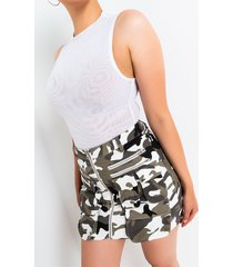akira army hour front zipper mini skirt