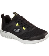 zapatilla negra bounder high degree skechers