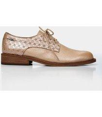 zapatos cordón de cuero para mujer grabados