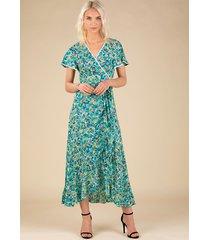 poupette st barth long joe dress green rose