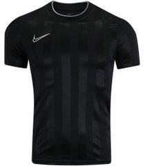 camiseta nike breathe academy - masculina - preto/branco