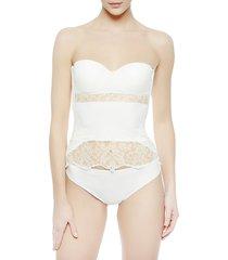 la perla women's shape-allure corset - natural - size 36 b