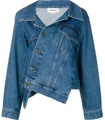 monse twisted denim jacket - blue