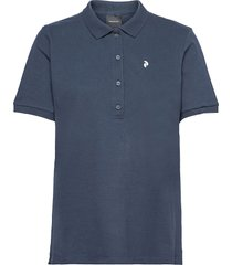 w classic polo t-shirts & tops polos blå peak performance