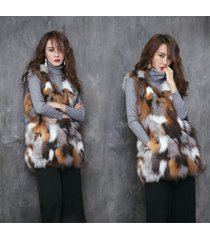 red fox fur vest long vest womens plus size clothing fox fur gilet