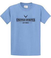 us air force mens printed tee shirts regular to big and tall size port & co
