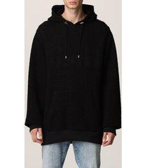 balmain sweatshirt balmain organic cotton sweatshirt with all-over monogram pattern