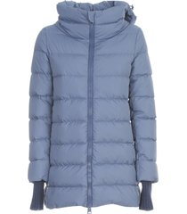 herno padded jacket w/ knitted wrist