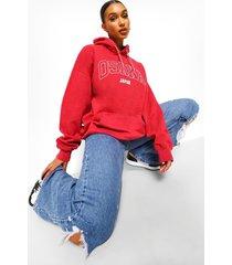 oversized overdye osaka hoodie, rood