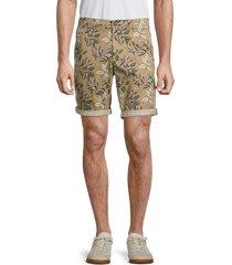 jack & jones men's floral-print cuffed shorts - navy blazer - size l