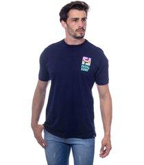 camiseta fatal básica azul marinho