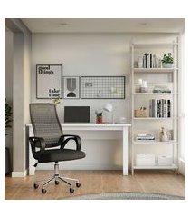 mesa de escritório moore branca