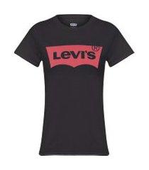 camiseta feminina logo batwing classic - preto
