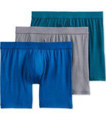 jockey men's flex 365 modal stretch boxer brief 3 pack, created for macy's