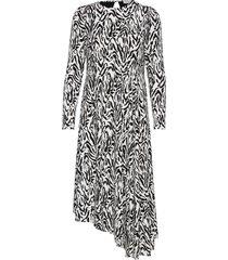 nicci drape dress knälång klänning multi/mönstrad notes du nord