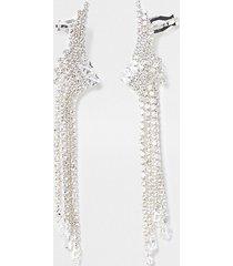 river island womens silver colour tassel ear cuffs