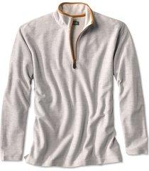 simoom tweed quarter-zip sweatshirt, light gray, x large