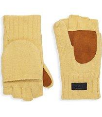 mixed-media flip mittens