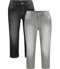 jeans capri elasticizzati (pacco da 2) (grigio) - john baner jeanswear
