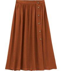 halvlång, utställd kjol med knäppning