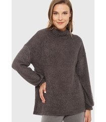 sweater privilege gris - calce holgado