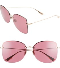 women's dior stell 62mm special fit oversize rimless sunglasses -