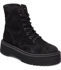 vmpath leather boot shoes boots ankle boots ankle boot - flat svart vero moda